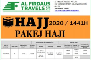 Al Firdaus Travels Pakej Haji Singapore 2020