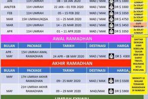 Babus Salam Umrah Pakej 2020 Singapore
