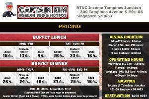Captain Kim Korean BBQ Price