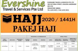 Evershine Travel Singapore Hajj Package 2020