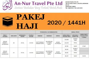 Haji Package Singapore 2020 by An-Nur Travel
