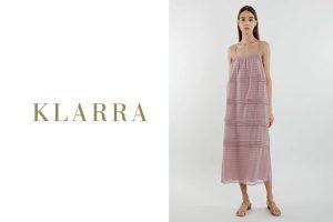 KLARRA - Panelled Midi Dress in Rose