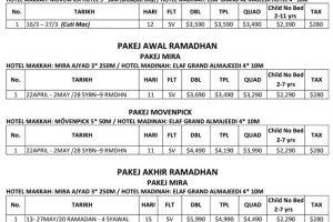 TM Fouzy Umrah Package 2020 page 1