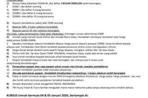 TM Fouzy Umrah Package 2020 page 2
