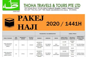 Thoha Haji Package Singapore 2020