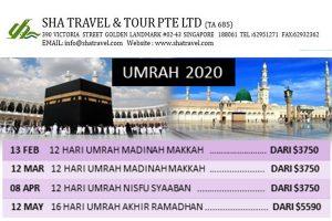 Umrah Pakej 2020 Singapore Sha Travel