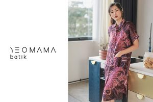 YeoMama Batik Midi Shirt Dress